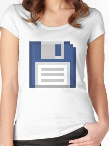 Pixel Floppy Disk Women's Fitted Scoop T-Shirt