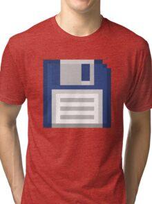 Pixel Floppy Disk Tri-blend T-Shirt