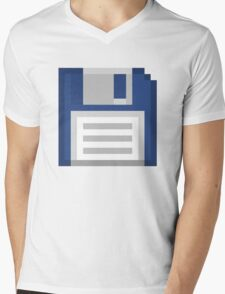 Pixel Floppy Disk Mens V-Neck T-Shirt