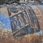 STENCIL: H. R. Gieger's Birth Machine - stencil on gas canister by indiacording