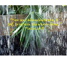"""Psalm 68:9""  by Carter L. Shepard Photographic Print"