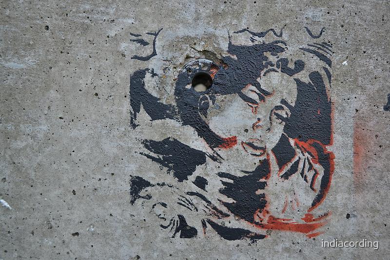 STENCIL: Roy Lichtenstein - drowning girl - graffiti by indiacording