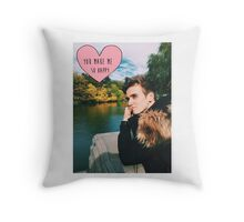 Joe Sugg nature happy Throw Pillow