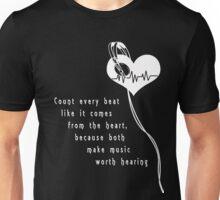 Music Heart Beat (inverted) Unisex T-Shirt