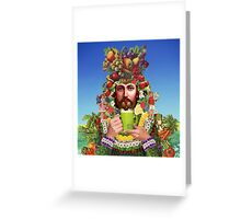 Herbal Jesus Greeting Card