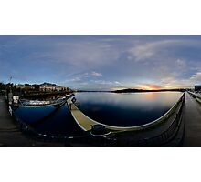 Dawn Calm at Foyle Marina - Rectangular Photographic Print