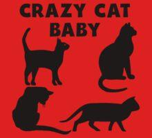 Crazy Cat Baby Kids Tee