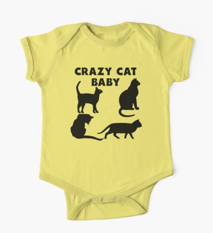 Crazy Cat Baby One Piece - Short Sleeve