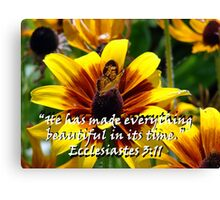 """Ecclesiastes 3:11""  by Carter L. Shepard Canvas Print"