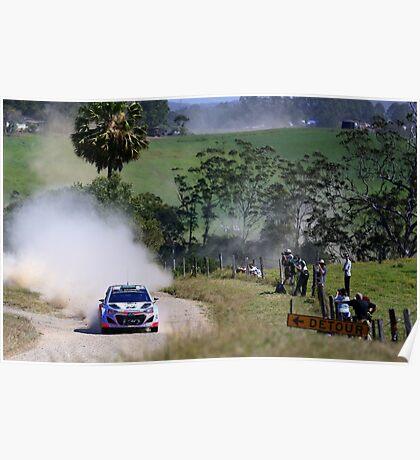 Hyundai World Rally Poster