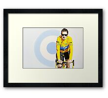 BRADLEY WIGGINS - MOD GOD CYCLIST Framed Print