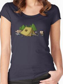 no camping Women's Fitted Scoop T-Shirt
