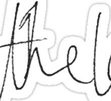 harry styles all the love handwriting Sticker