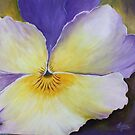 The heart of a Pansy- Acrylic Painting by Esperanza Gallego