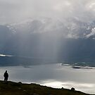 Rain showers in Lyngen by Algot Kristoffer Peterson