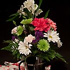 Fresh Coffee and Fresh Flowers by Sherry Hallemeier