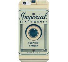 Retro - Vintage Pastel Camera on Beige Pattern Background  iPhone Case/Skin
