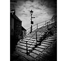 Whitby Abbey steps Photographic Print
