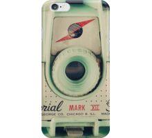 Retro - Vintage Mint Camera on Pattern Background  iPhone Case/Skin