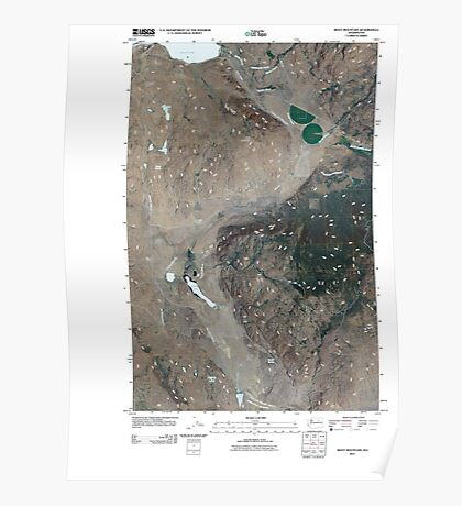 USGS Topo Map Washington State WA Boot Mountain 20110404 TM Poster
