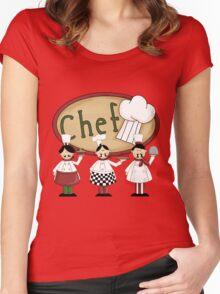 Italian Three Chefs Women's Fitted Scoop T-Shirt