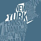 United States of Typography: New York by jlo2006
