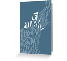 United States of Typography: New York Greeting Card
