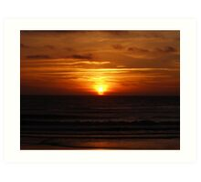 Sunset in Atlantic coast Art Print