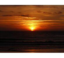 Sunset in Atlantic coast Photographic Print