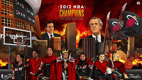 Miami Heat 2012 Championship by Jeffrey Lo