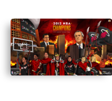 Miami Heat 2012 Championship Canvas Print