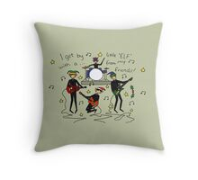 I Get By with a Little 'Elf' from My Friends Throw Pillow