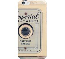 Retro - Vintage Pastel Camera on Cream Pattern Background  iPhone Case/Skin