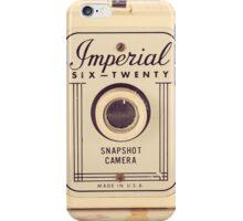 Retro - Vintage Pastel Camera on Girly Pattern Background  iPhone Case/Skin