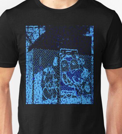 Fenced Graffiti Dog Unisex T-Shirt