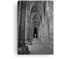 Cloister in Mono Canvas Print