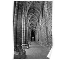 Cloister in Mono Poster