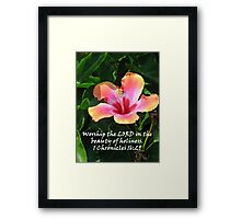 """1 Chronicles 16:29""  by Carter L. Shepard Framed Print"