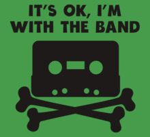 It's OK I'm With The Band Kids Tee