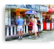 Buying Ice Cream at the Fair Canvas Print