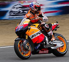 Casey Stoner at laguna seca 2011 by corsefoto