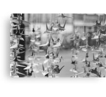 Paper Cranes, Made with Love Metal Print