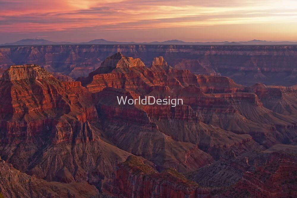 Bright Angel Sunset by William C. Gladish, World Design