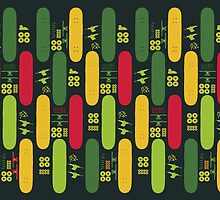 Skateboard Assembly Pattern (GRN) by BGWdesigns