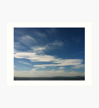 Clouds where I want to be. Art Print