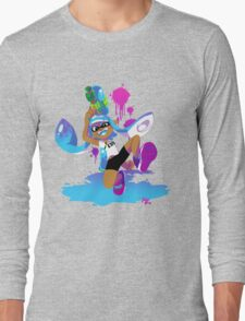 Splatoon Inkling (Cyan) Long Sleeve T-Shirt