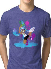 Splatoon Inkling (Cyan) Tri-blend T-Shirt