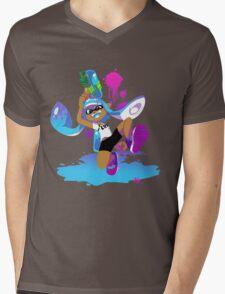 Splatoon Inkling (Cyan) Mens V-Neck T-Shirt