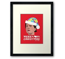 BACK TO THE FUTURE CHRISTMAS Framed Print