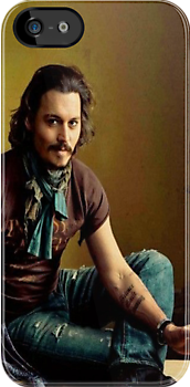 Johnny Depp iPhone Case by sweetcherries